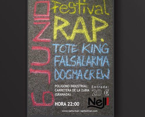 Cartel creado para festival de rap